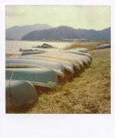 Polaroid SX-70 + T-600 film Lake Kawaguchi , Yamanashi / 2009.02