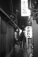 Fujifilm X-Pro1 + MINOLTA M-ROKKOR 28mm f2.8 Pontocho , Kyoto - 2014/01/30